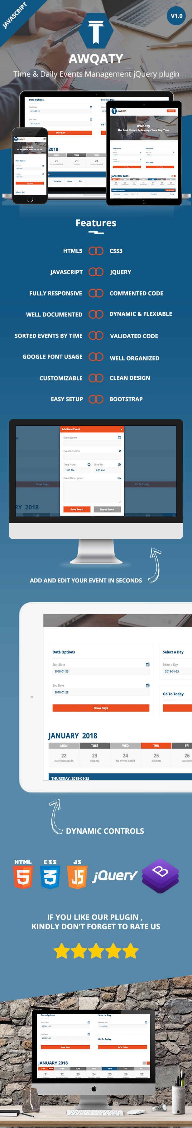 Awqaty - Time and Daily Events Management Plugin - 2